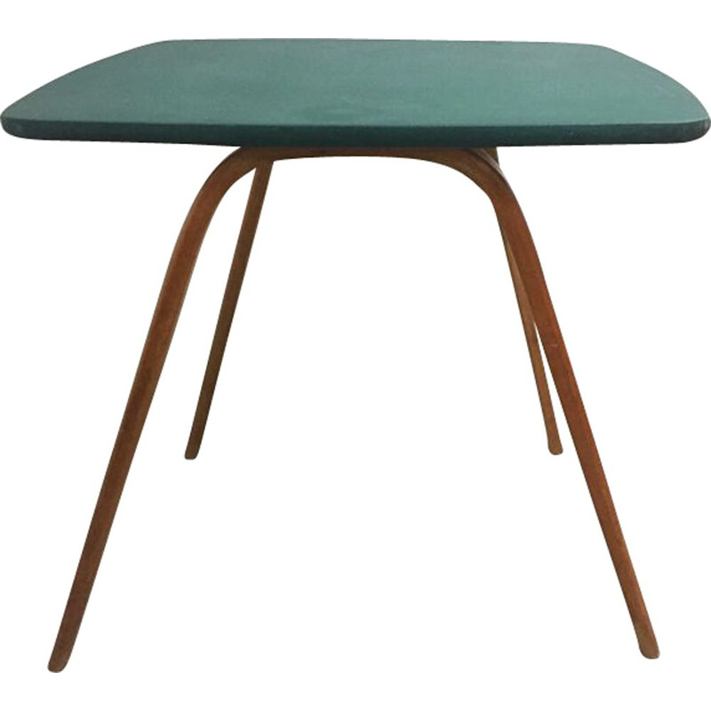 Vintage bow wood table for Steiner in wood 1960