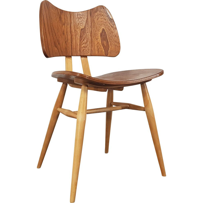 Vintage Butterfly chair for Ercol in elmwood and beechwood 1960s