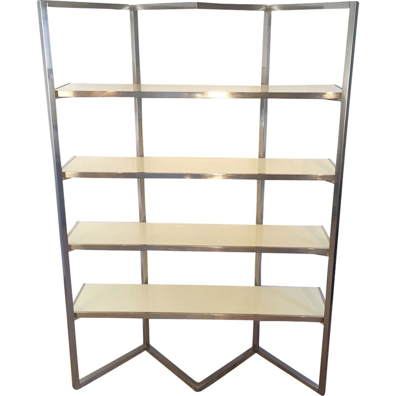 Vintage chrome shelf from the 70s