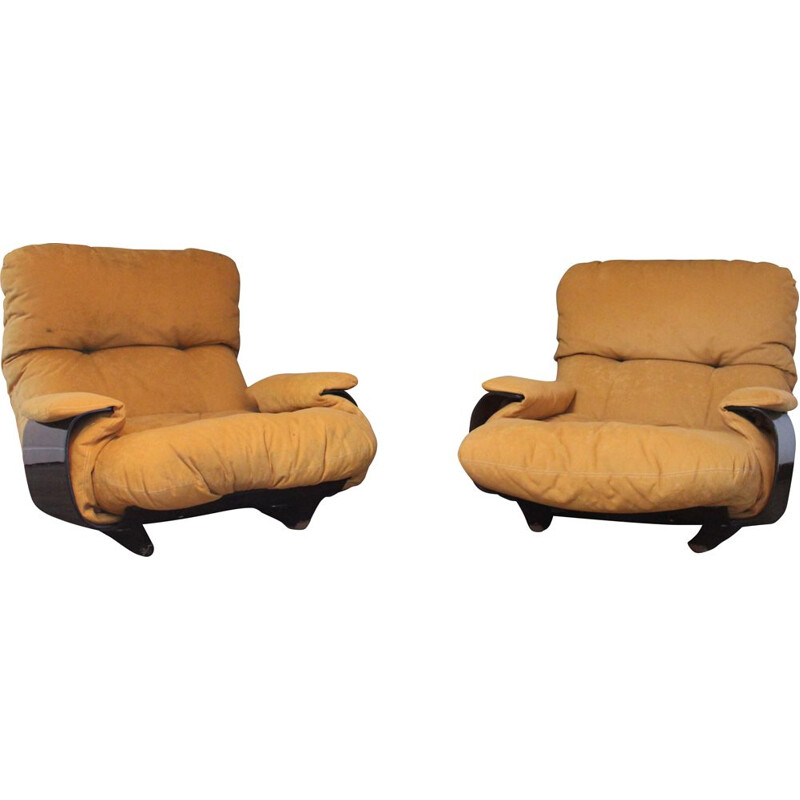 Pair of vintage armchairs by Michel Ducaroy for Ligne Roset,1970