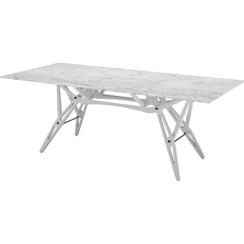 """Reale"" dining table with marble top by Carlo Mollino for ZANOTTA"