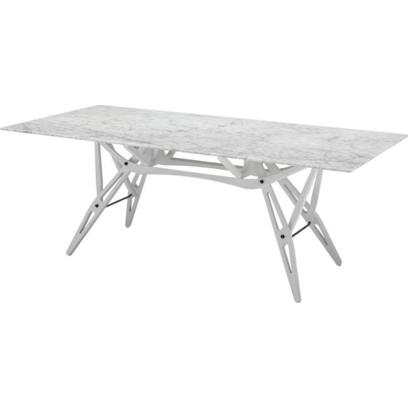 """""""Reale"""" dining table with marble top by Carlo Mollino for ZANOTTA"""