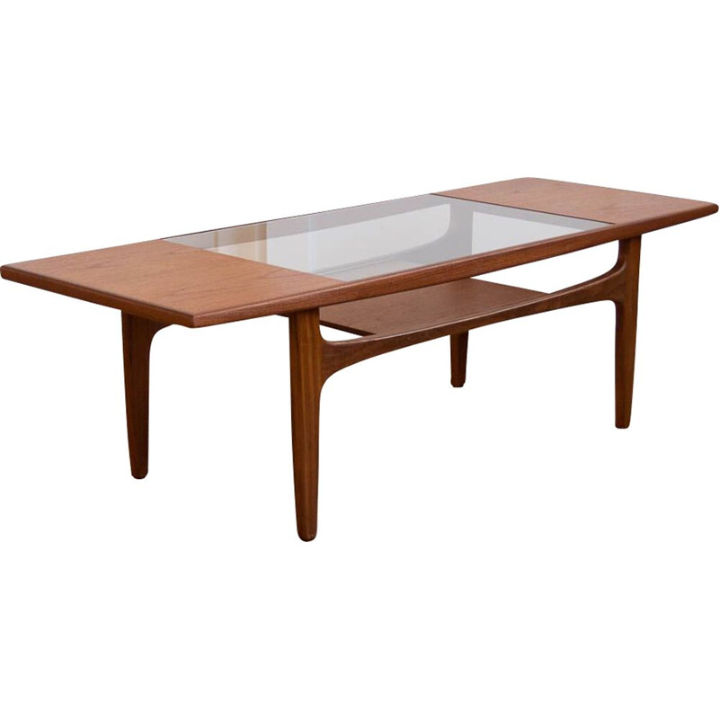 Vintage Gplan teak and glass coffee table