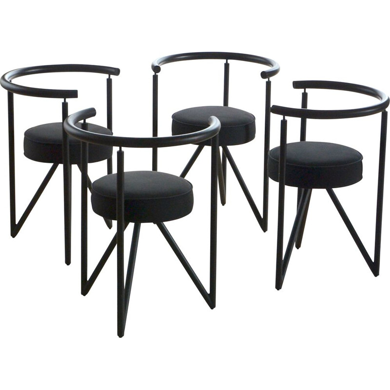 Set of 4 vintage chair Miss Dorn by Philippe Starck 1982