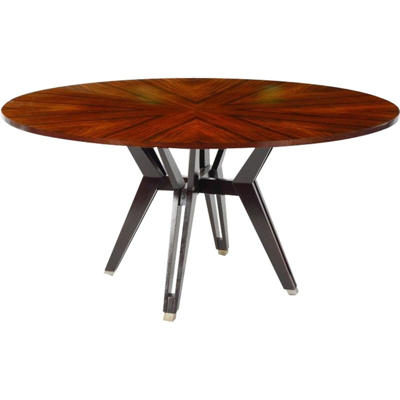 Vintage rosewood table by Ico Parisi 1970