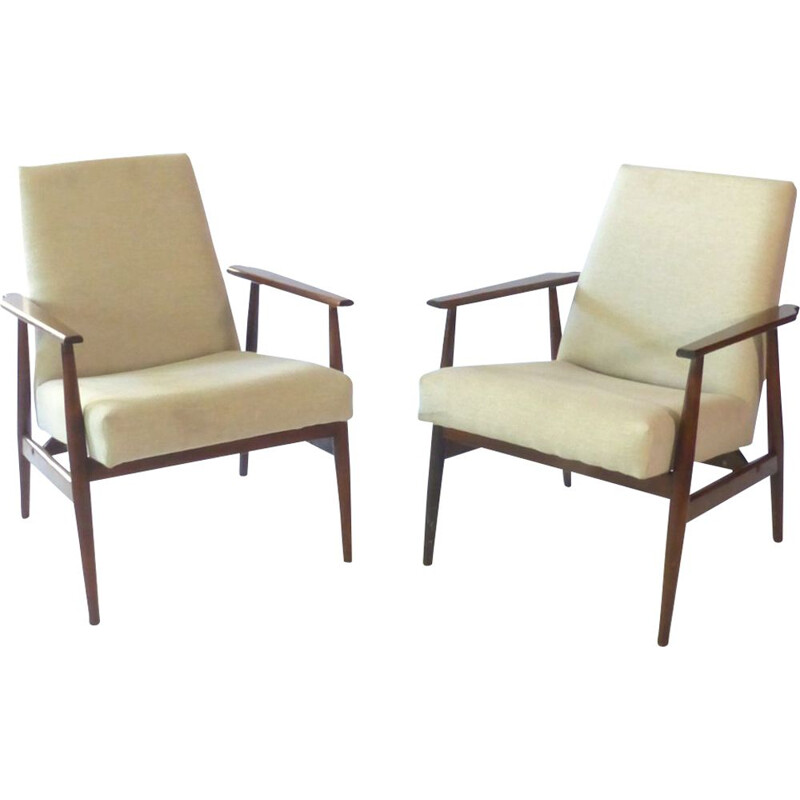 Pair of armchairs by Henryk Lis 1960