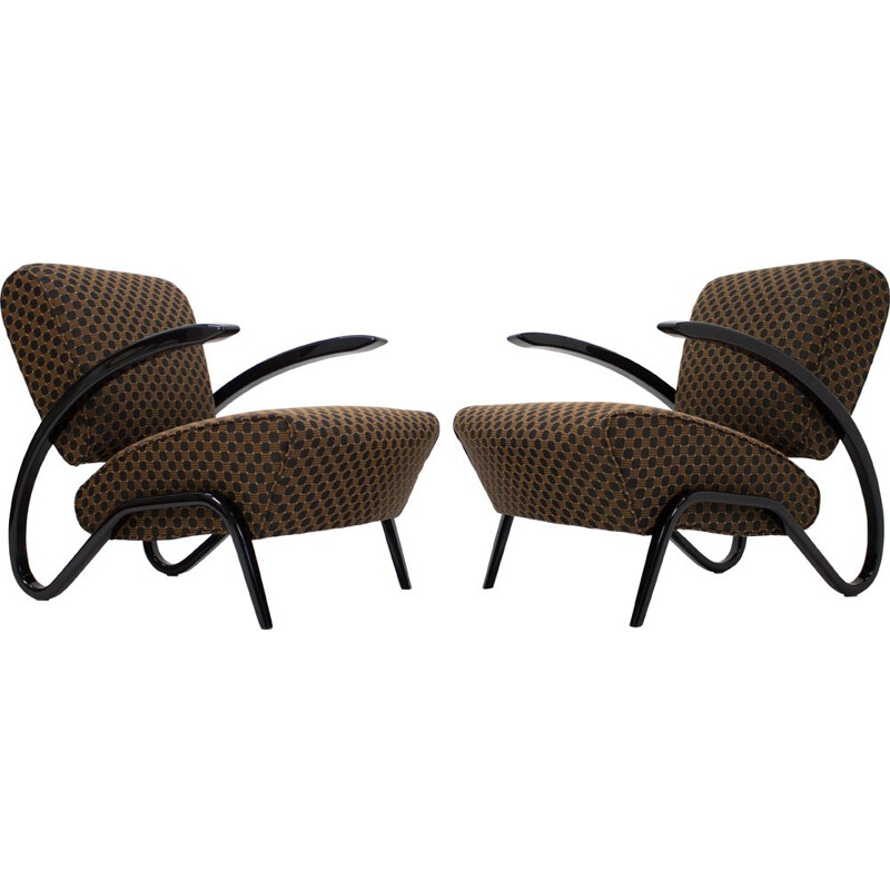 Set of 2 armchairs H275 by Jindrich Halabala 1930