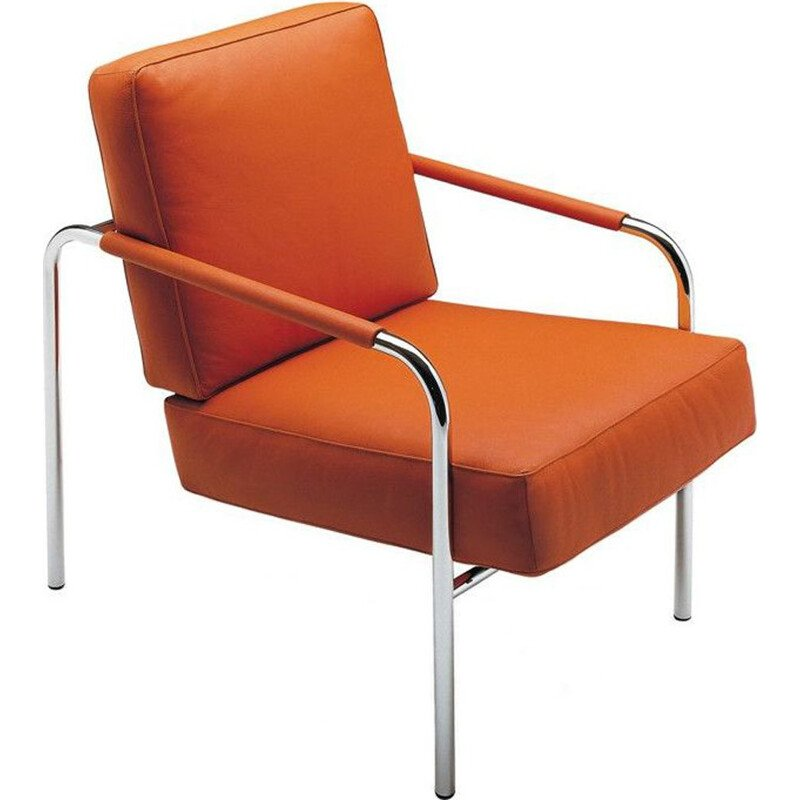 """Susanna"" armchair in leather by Gabriele Mucchi for ZANOTTA"
