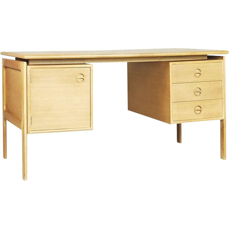 Vintage desk in teak Scandinavian 1960s