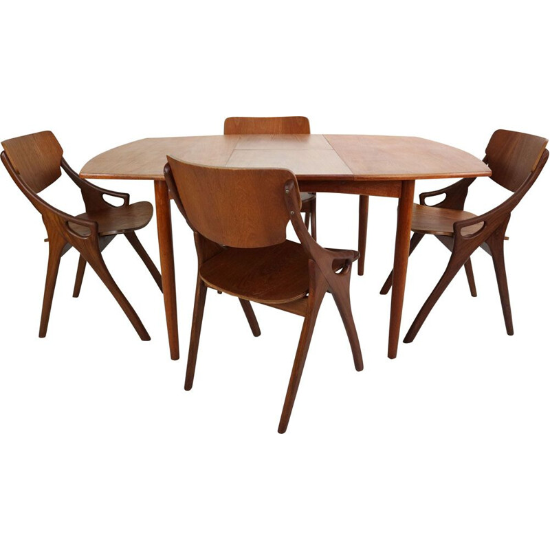 Vintage dining set for Mogens Kold in teakwood 1960
