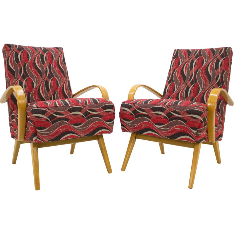 Set of 2 vintage armchairs by Jaroslav Smidek for TON
