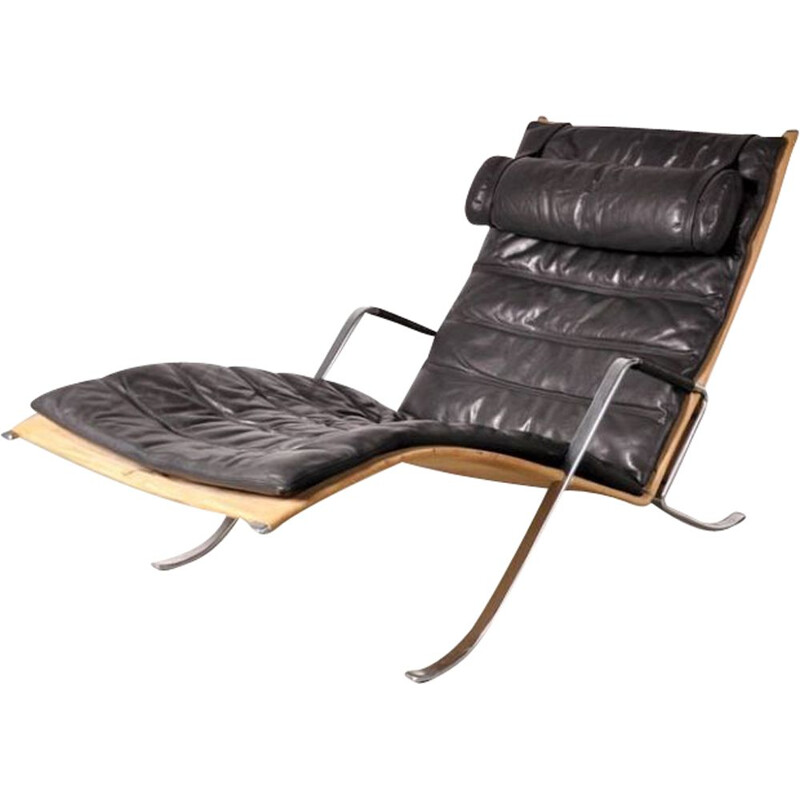 Vintage lounge chair Grasshopper first edition by Fabricius and Kastholm for Kill International Denmark 1967