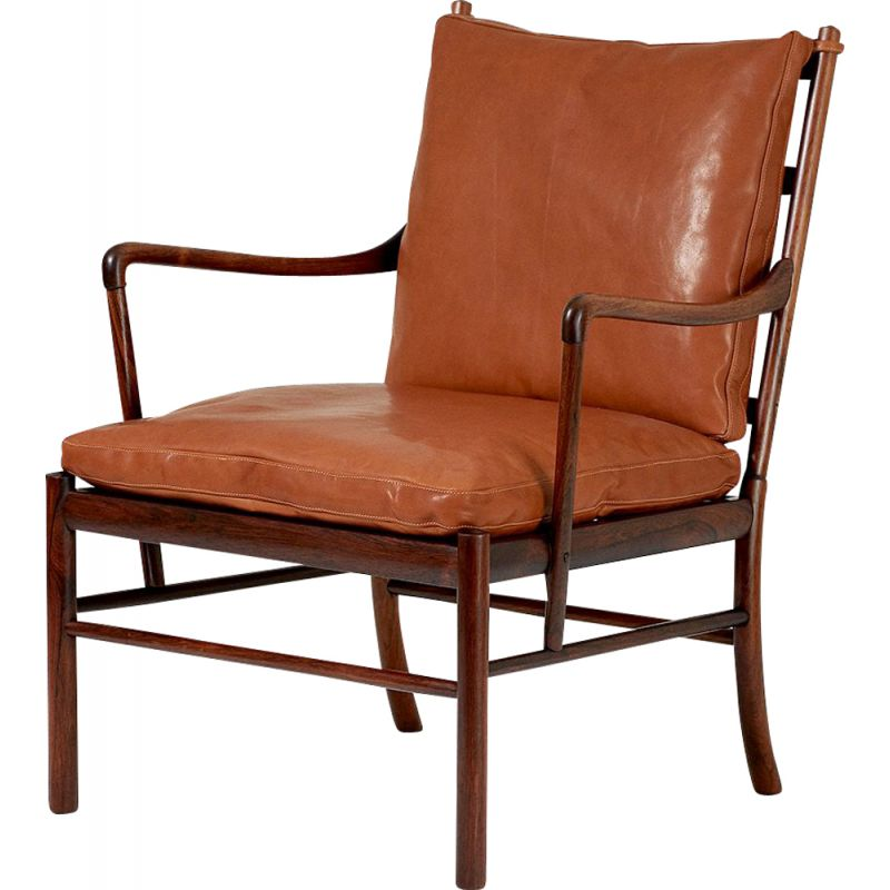 Vintage Colonial chair PJ-149 in rosewood by Ole Wanscher for Poul Jeppesen 1949