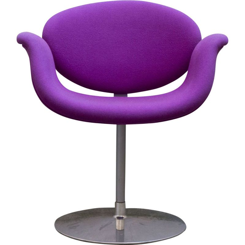 Vintage Pierre Paulin's Little Tulip Magenta chair for ARTIFORT