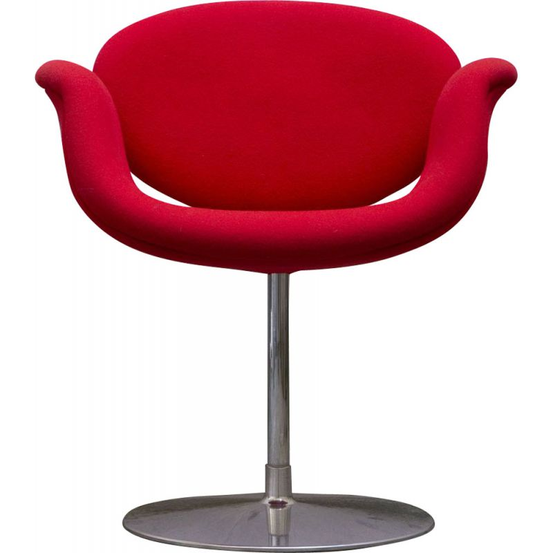 Vintage Pierre Paulin's little red tulip chair for ARTIFORT