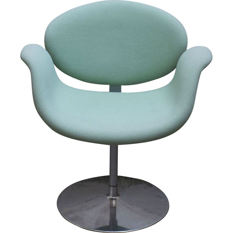 Vintage Little Tulip Cyan chair by Pierre Paulin for ARTIFORT