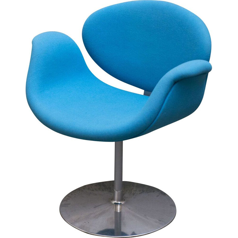 Vintage Pierre Paulin's blue chair for ARTIFORT