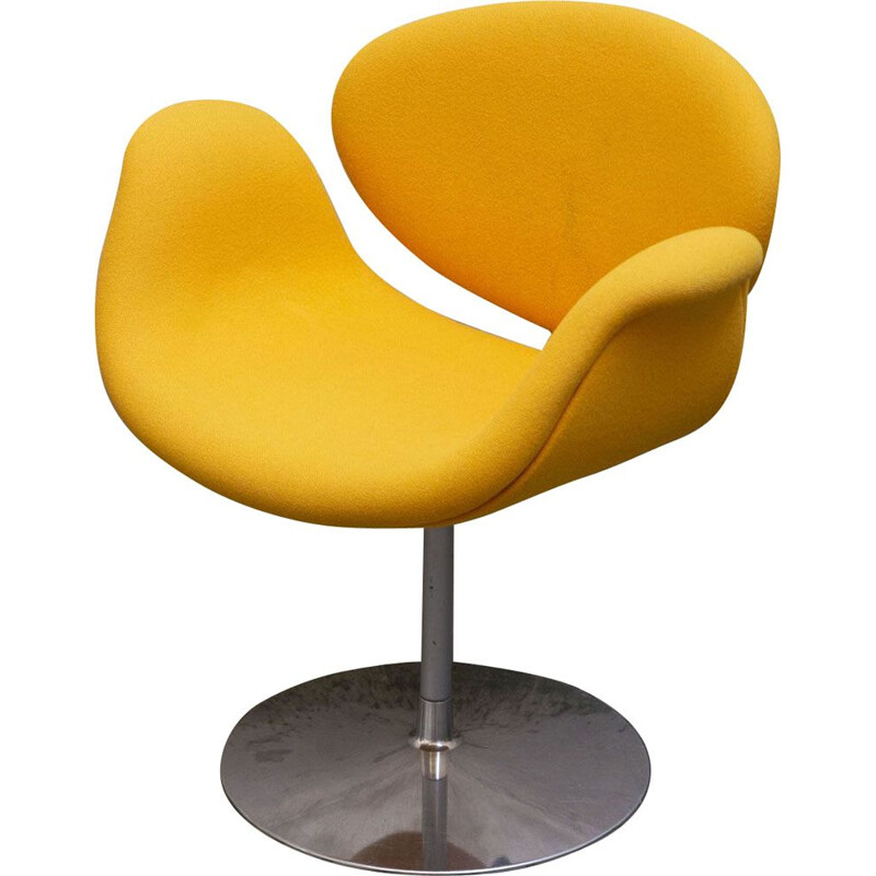 Vintage Pierre Paulin's orange armchair for ARTIFORT
