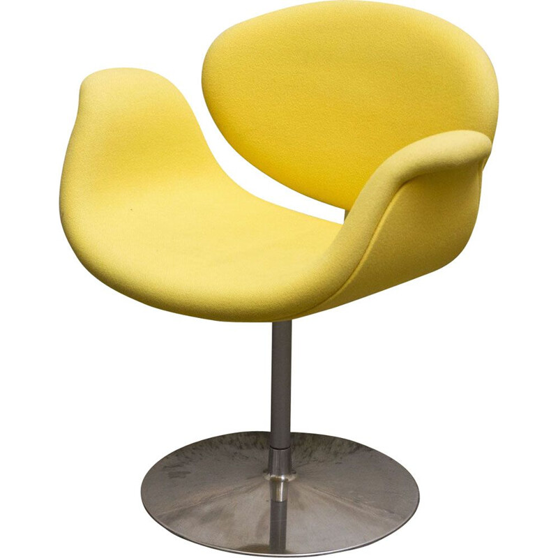 Vintage Pierre Paulin yellow armchair for ARTIFORT