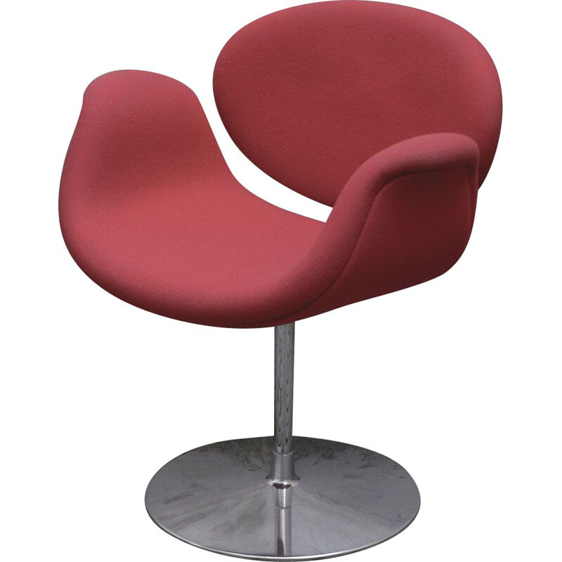Vintage Pierre Paulin pale red armchair for ARTIFORT