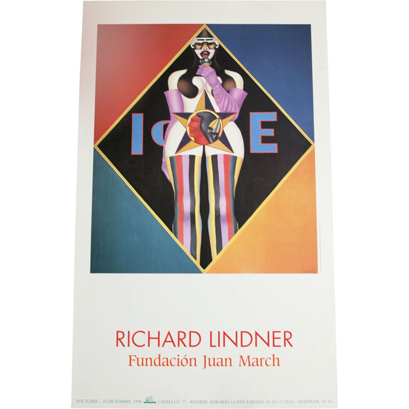 Vintage silkscreen printing poster by Richard Lindner, 1998