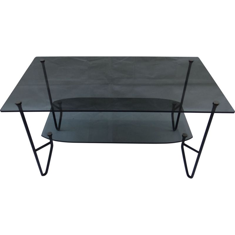 Vintage coffee table by Pierre Guariche 1950s