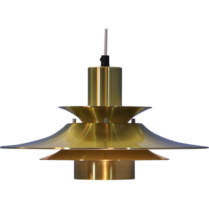 Vintage hanging lamp in brass 1970s