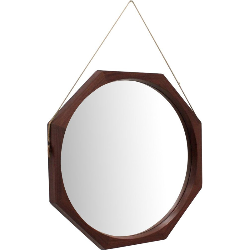 Vintage octogonal Italian mirror from the 50s