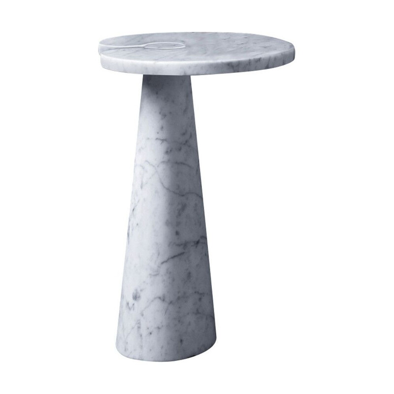 "Side table AGAPECASA ""Eros"" 54x45cm oval, Angelo Mangiarotti"