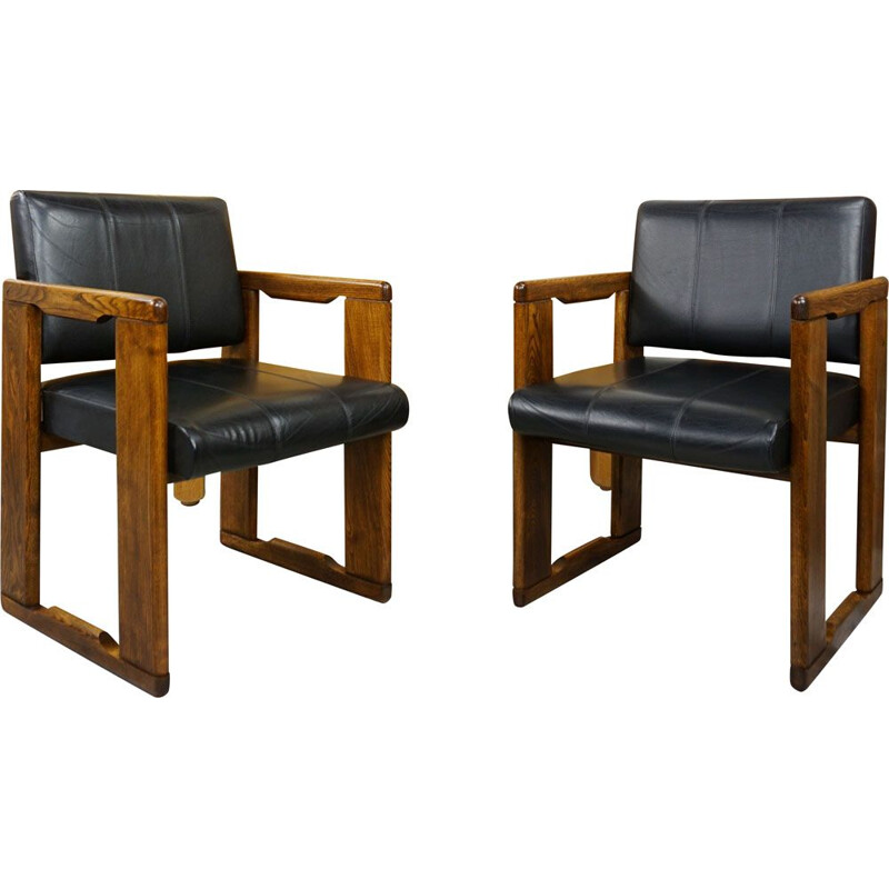 Pair of vintage desk chairs model Dialogo by Afra&Tobia Scarpa 70s