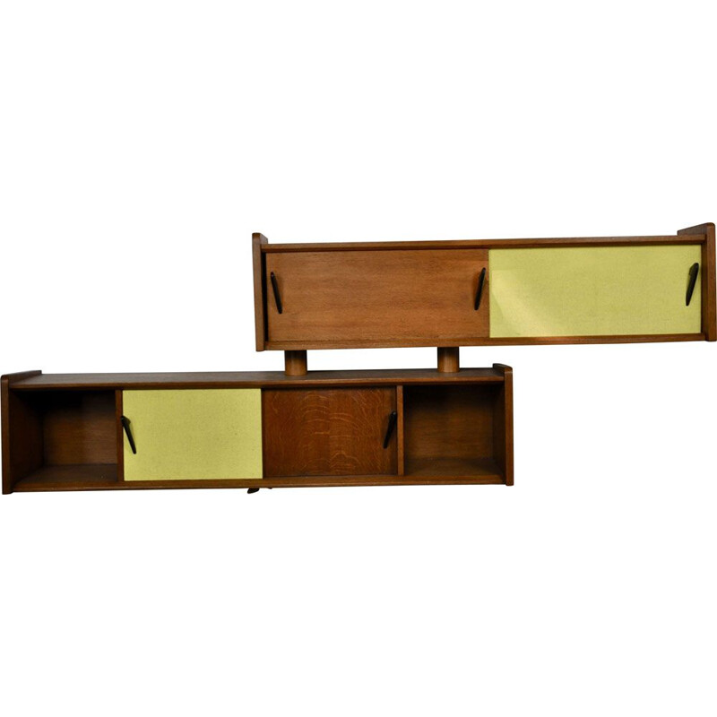 Pair of vintage french shelves in wood 1970