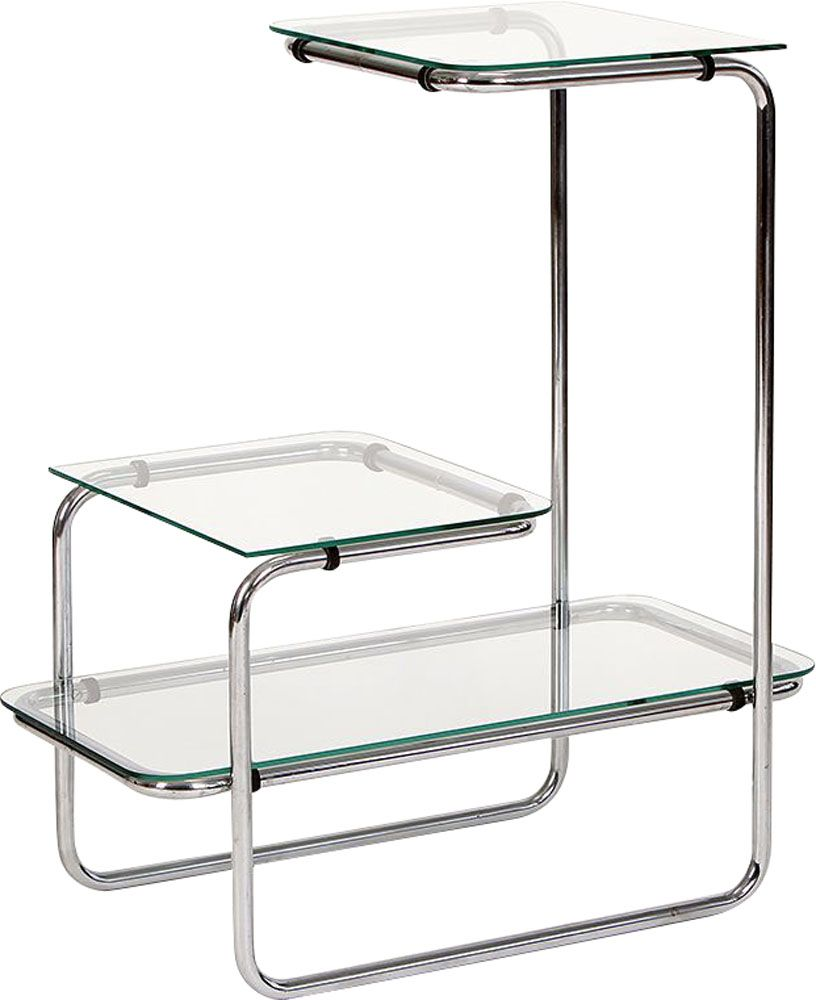 Vintage Glass Amp Steel Shelf 1930s Design Market