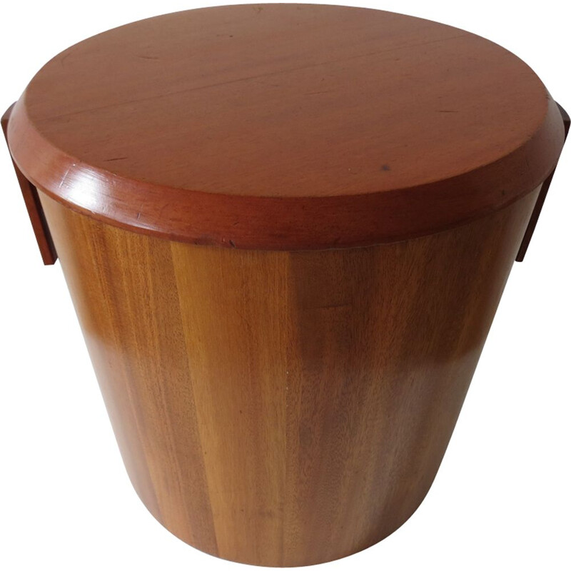 Vintage bin by Drummond Woodware in mahogany 1950s