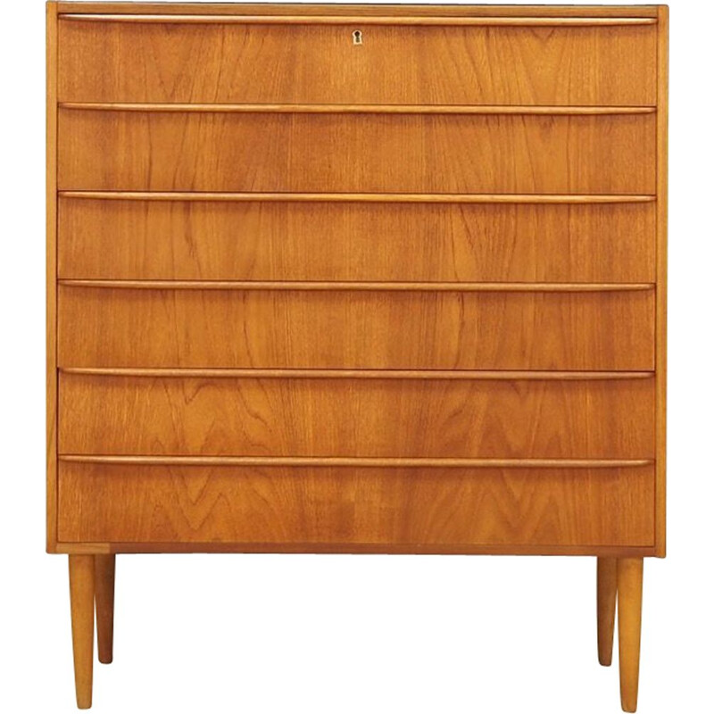 Vintage scandinavian chest of drawers in teakwood 1960s