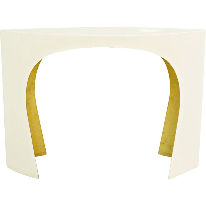 French vintage console by Charlotte Perriand in white resin 1960