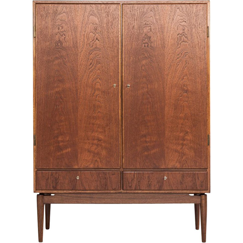 Vintage danish cabinet in teak with 2 doors and 2 drawers 1960s