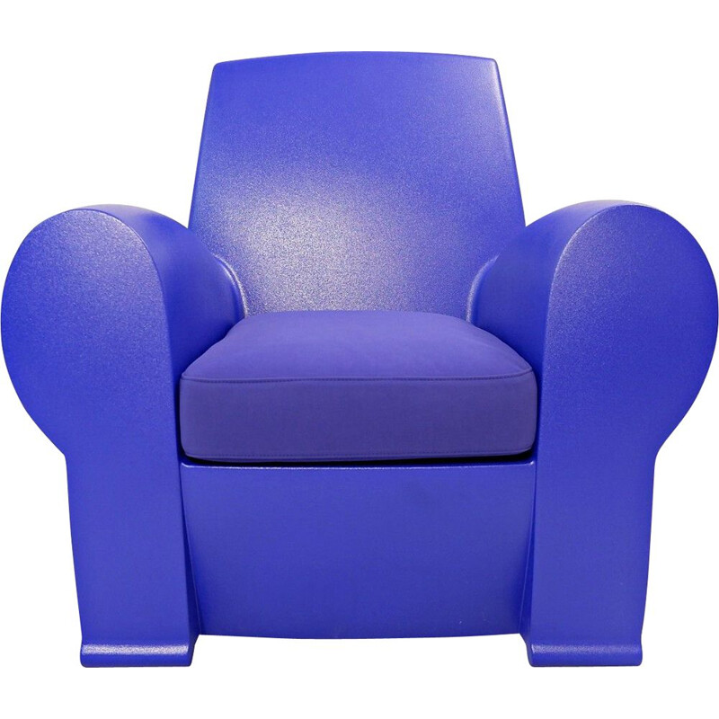Richard III vintage armchair for Baleri Italia in blue resin 2004