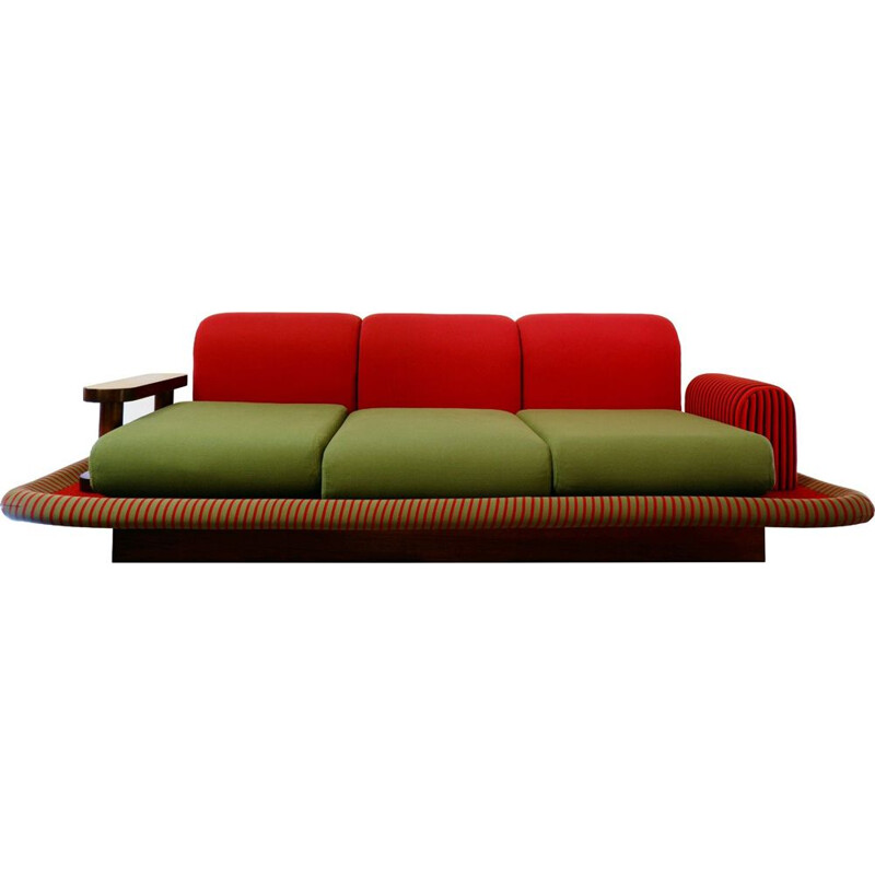 Vintage sofa flying carpet by Ettore Sottsass, Italy 1972