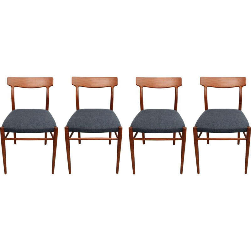 Vintage set of 4 dining chairs in teak 1960