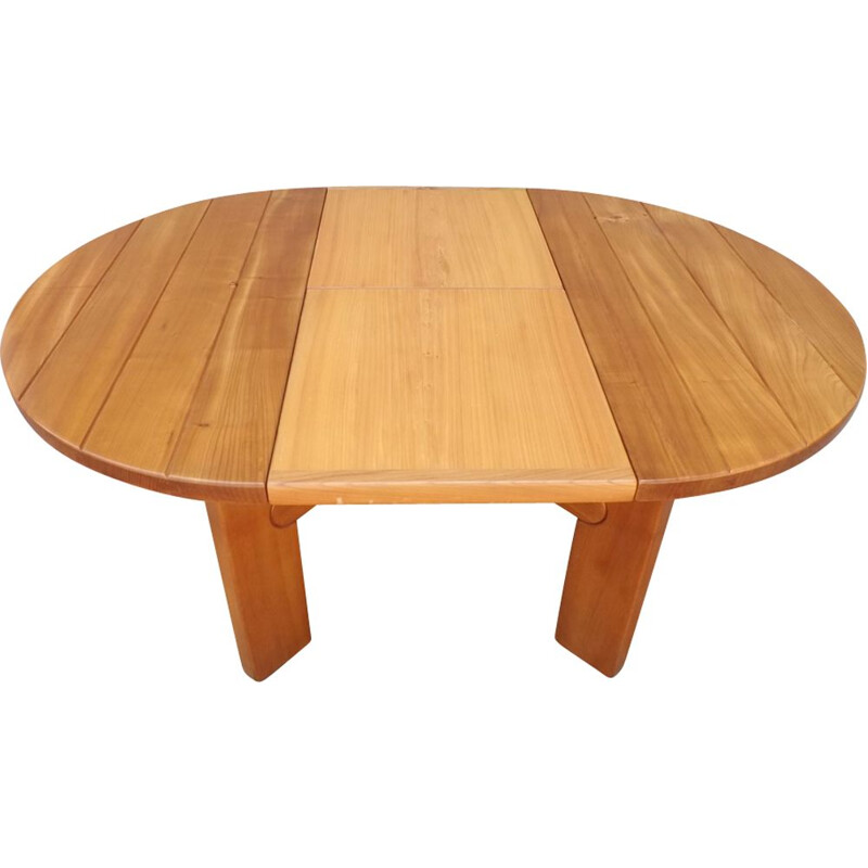 Vintage dining table in elm 1970
