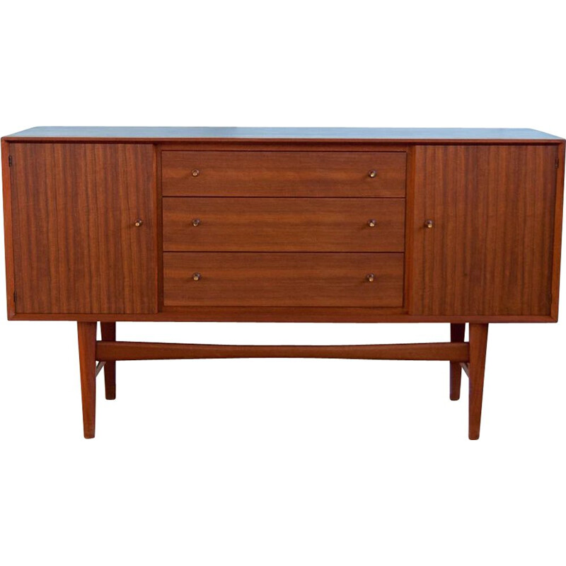 Vintage sideboard in blue and teak 153cm