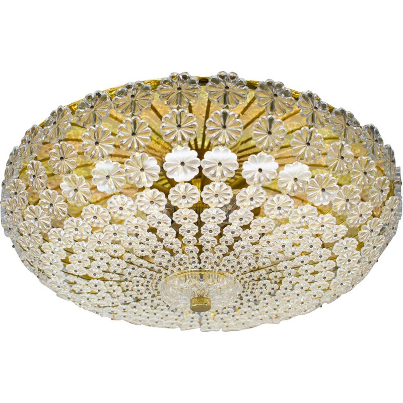 Vintage floral glass wall and ceiling Lamp
