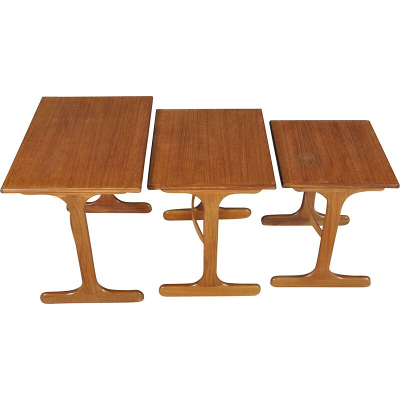 Vintage nesting tables for G-Plan in teakwood 1960s
