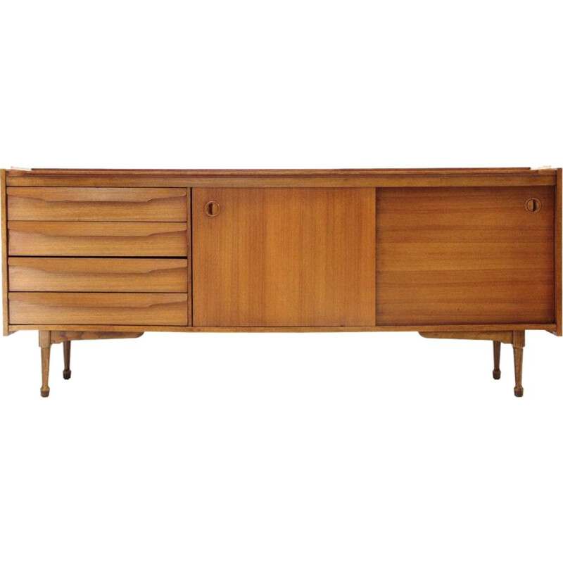 Vintage sideboard with drawers in wood Italy 1960s