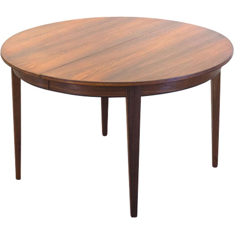 Vintage dining table in rosewood extendable Omann Jun Model 55