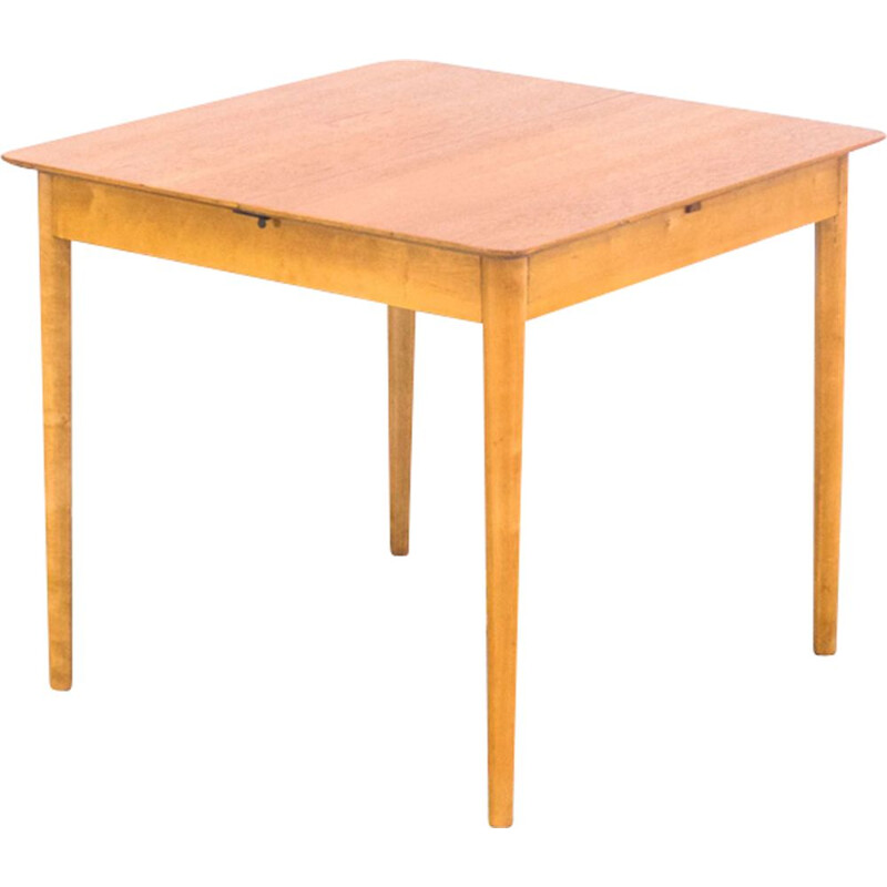 Vintage Pastoe TB38 teak and birch dining table by Cees Braakman