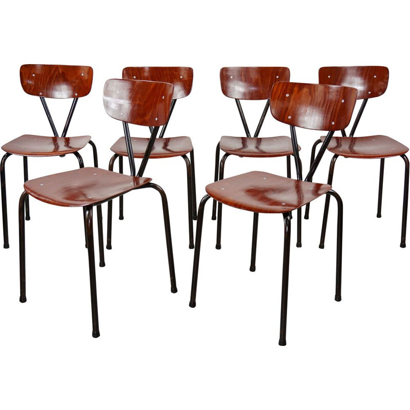 Set of 6 vintage Pagholz chairs