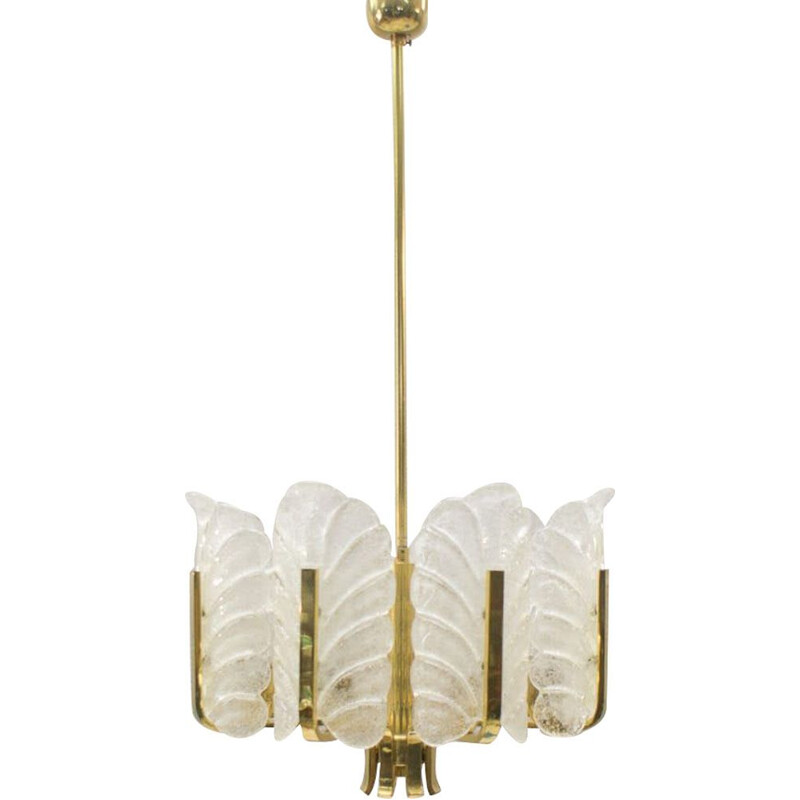 Vintage 8-light chandelier by Carl Fagerlund for Orrefors