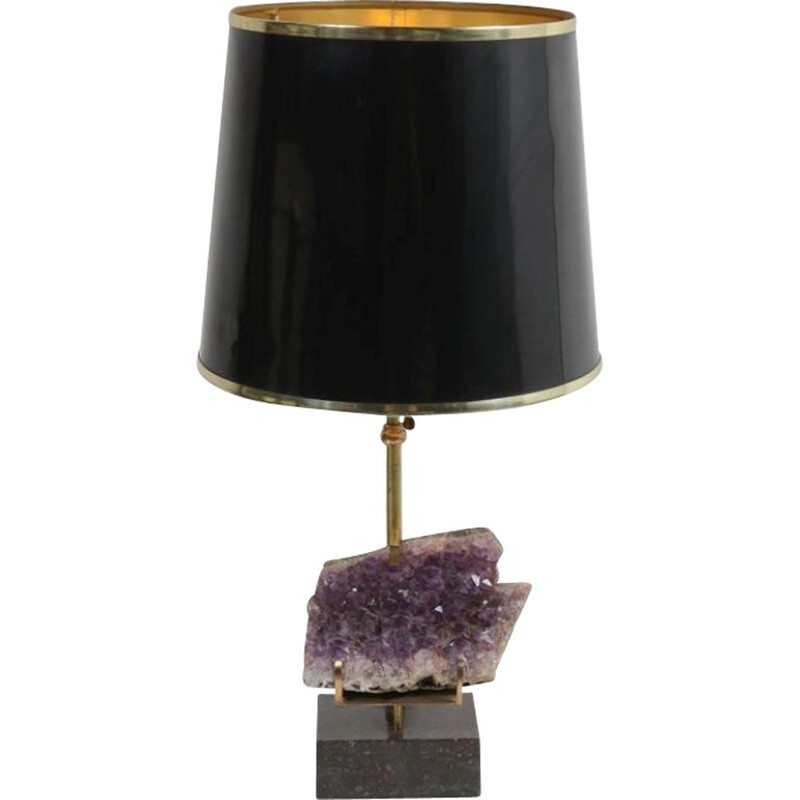 Vintage amethyst table Lamp 1970