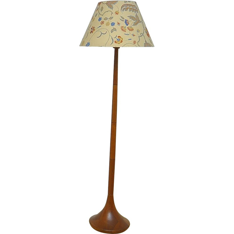 Vintage danish floor lamp made of solid teak 1960s